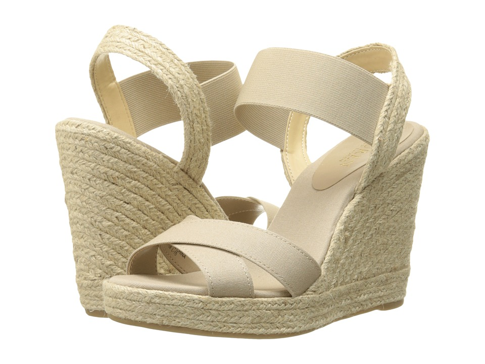 LAUREN Ralph Lauren - Elena (Light Clove Solid Canvas/Elastic) Women's Wedge Shoes