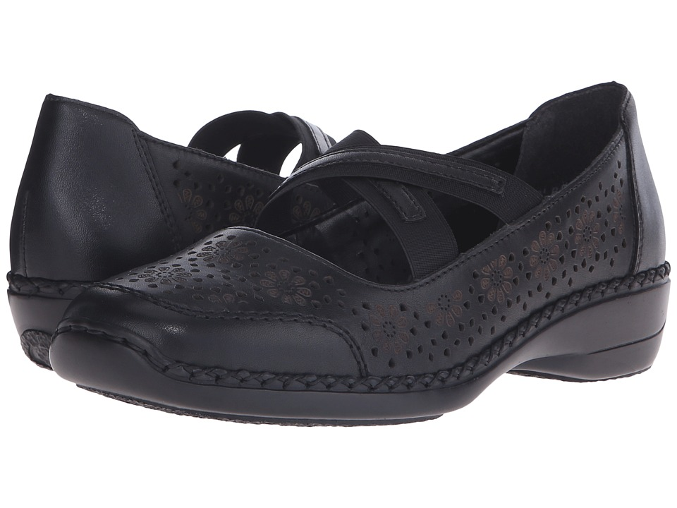 Rieker - 41325 Doris 25 (Nero/Black) Women's Maryjane Shoes