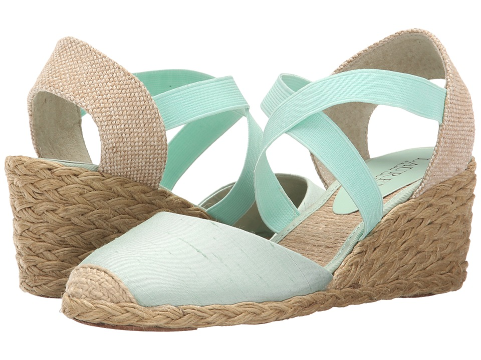 LAUREN Ralph Lauren - Casandra (Mint Shantung) Women's Wedge Shoes
