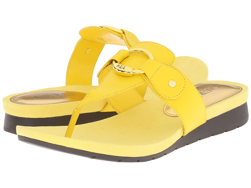LAUREN Ralph Lauren - Laurence (Vibrant Yellow Kidskin) Women's Sandals