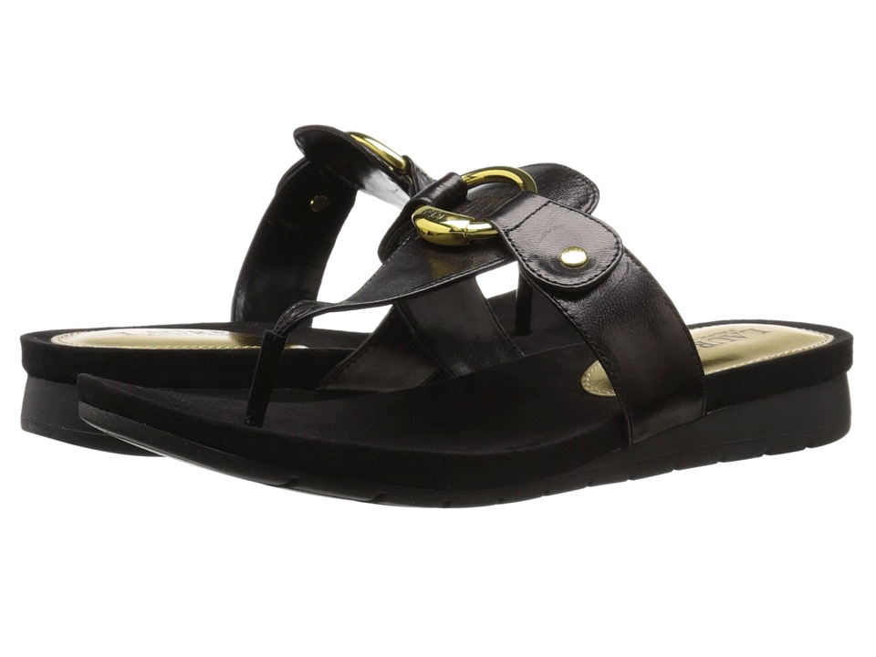 LAUREN Ralph Lauren - Laurence (Black Kidskin) Women's Sandals
