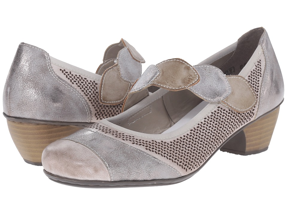 Rieker - 41755 Mariah 55 (Clay/Grey/Taupe) Women's 1-2 inch heel Shoes