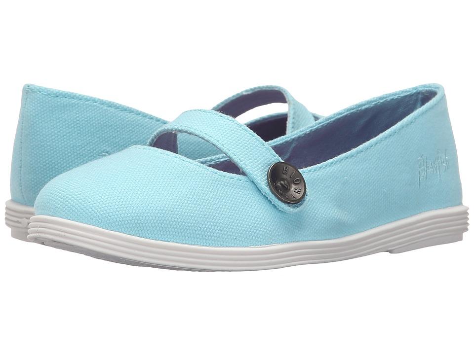 Blowfish Kids - Gino-K (Soft Blue Canvas) Girl's Shoes