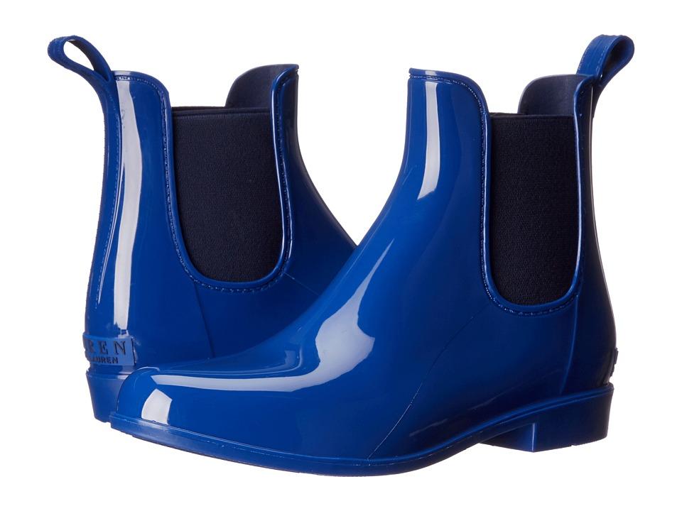 LAUREN Ralph Lauren - Tally (Summer Blue/Modern Navy Solid/Elastic) Women's Pull-on Boots