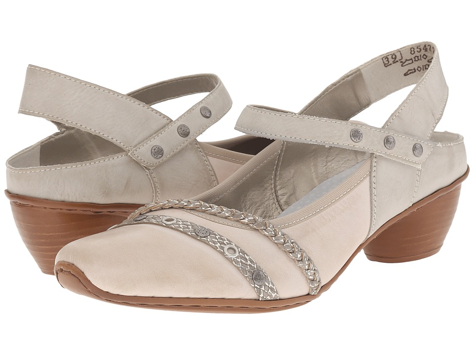 Rieker - 43728 Mirjam 28 (Cloud/Fango Silver/Ice) Women's Sling Back Shoes
