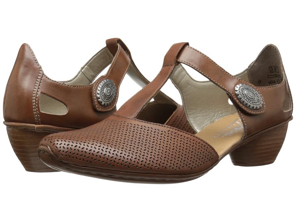 Rieker - 43730 Mirjam 30 (Noce/Noce) Women's 1-2 inch heel Shoes