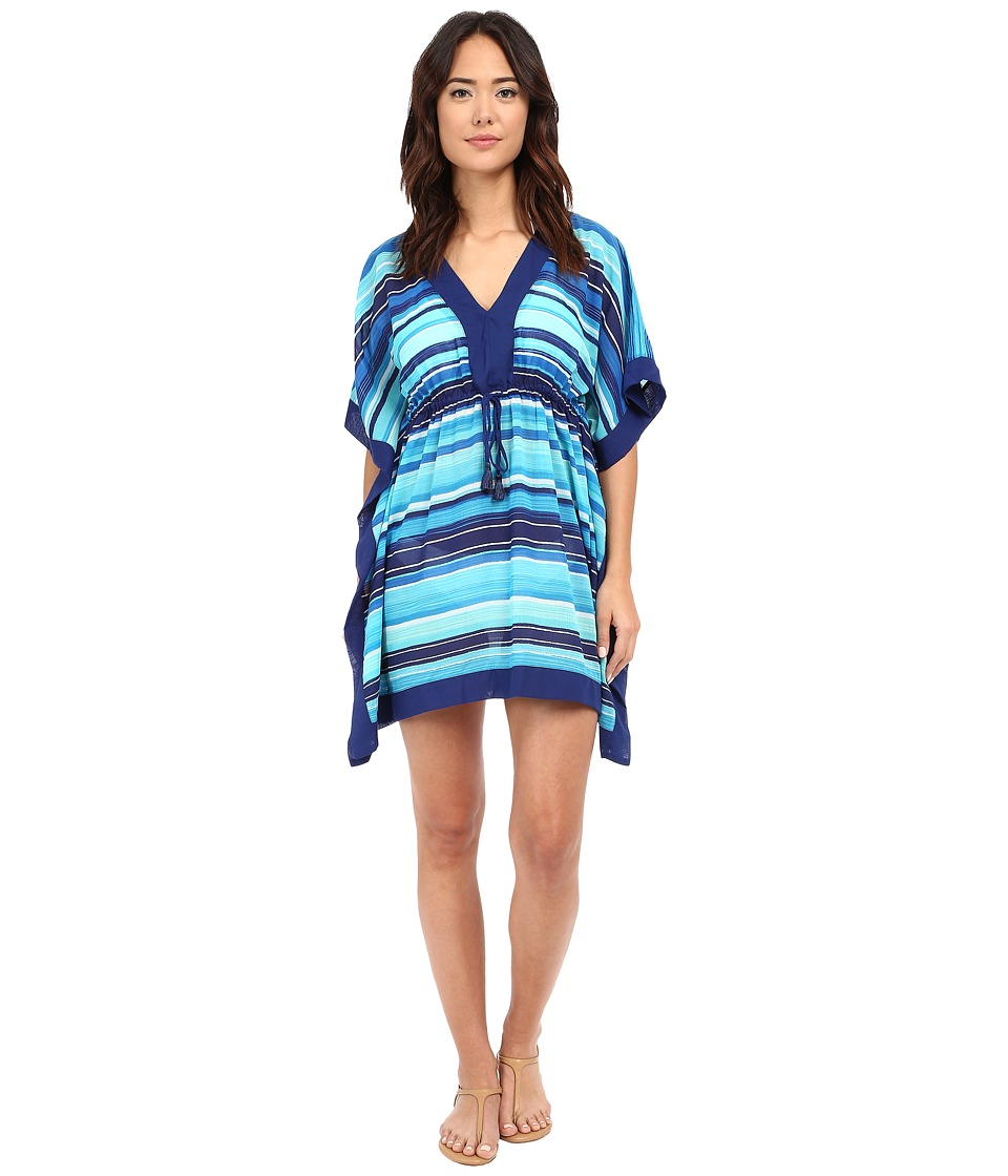 LAUREN Ralph Lauren - Sunset Stripe Sydney Tunic Cover-Up (Blue) Women's Swimwear