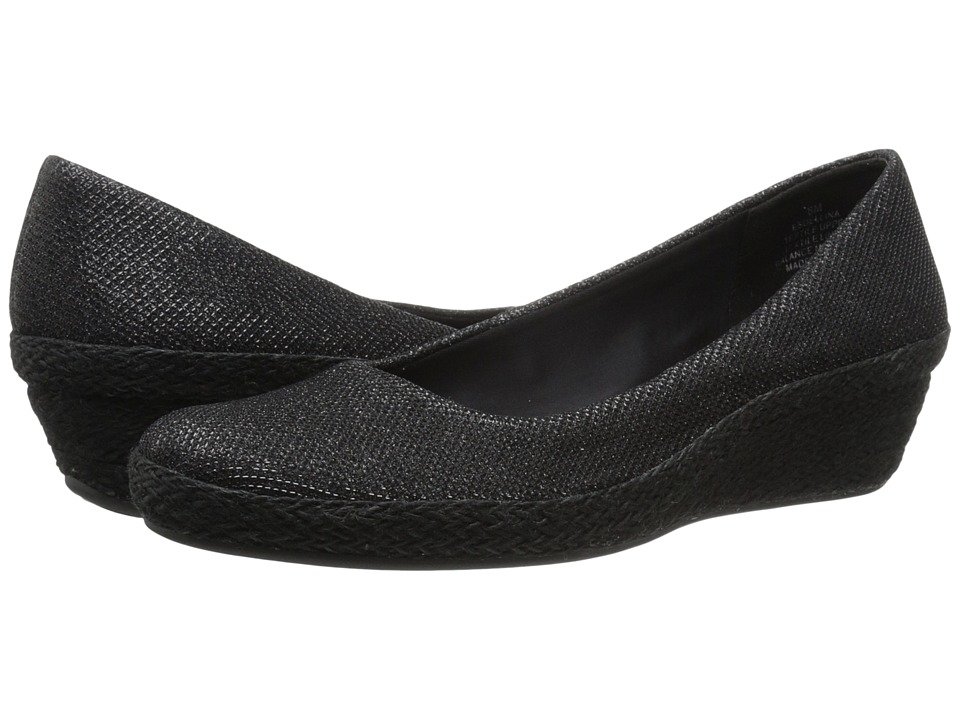 Easy Spirit - Dellina (Black Fabric) Women's Shoes