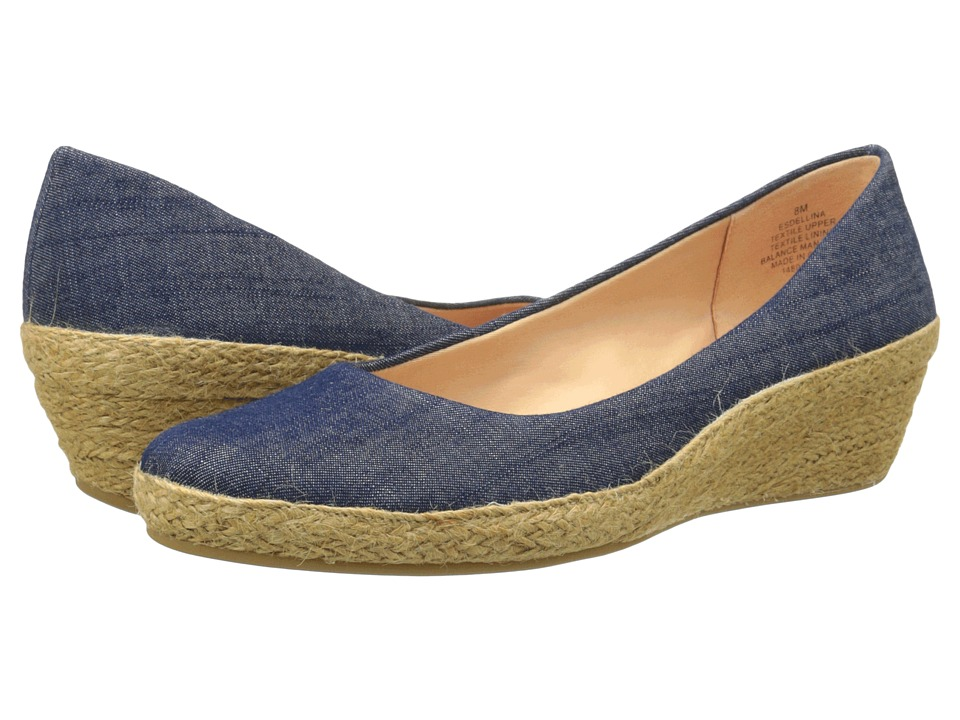 Easy Spirit - Dellina (Dark Blue Fabric) Women