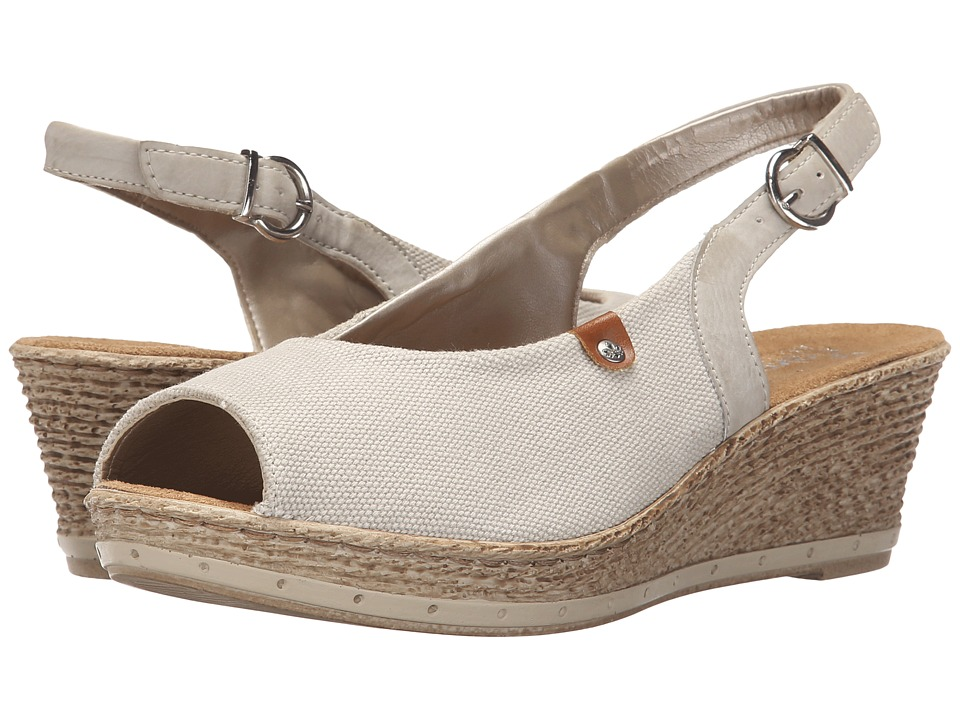 Rieker - 60482 Fanni 82 (Grey/Ice/Nuss) Women's Wedge Shoes