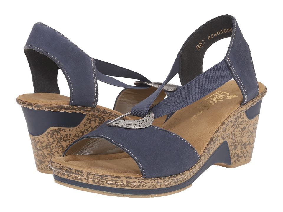 Rieker - 60662 Roberta 62 (Lake/Denim) Women's Sandals