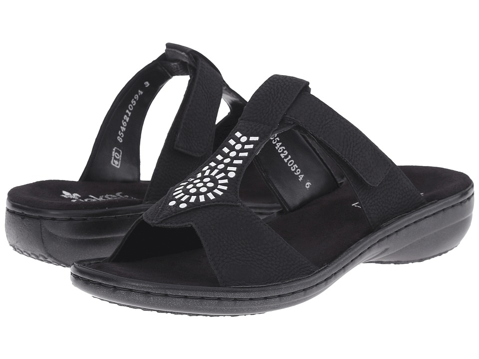 Rieker - 60896 Regina 96 (Black) Women's Sandals