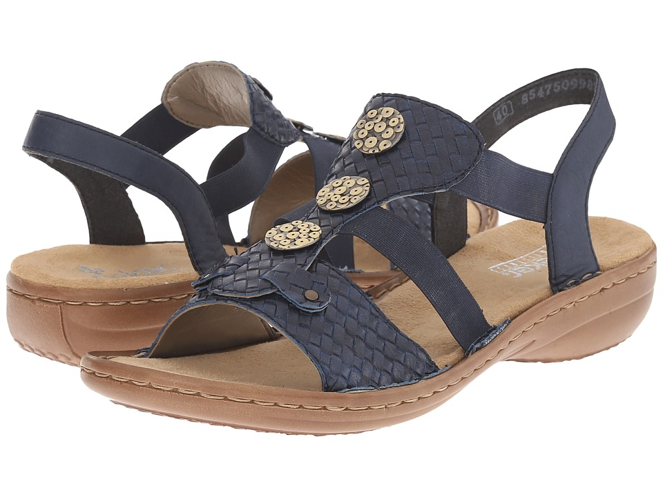Rieker - 608B4 Regina B4 (Ocean/Royal) Women's Sandals