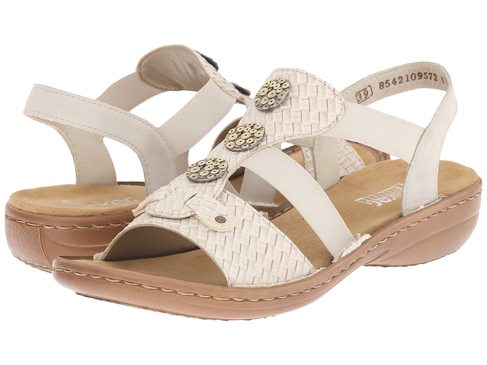 Rieker - 608B4 Regina B4 (Off-White/Ice) Women's Sandals