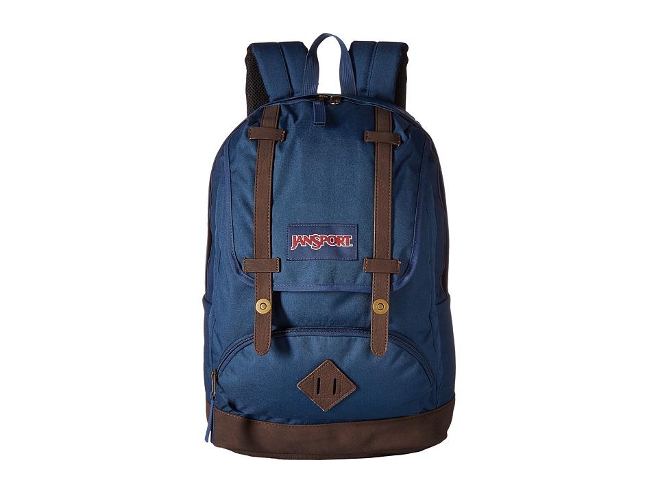 JanSport - Cortlandt Backpack (Navy) Backpack Bags