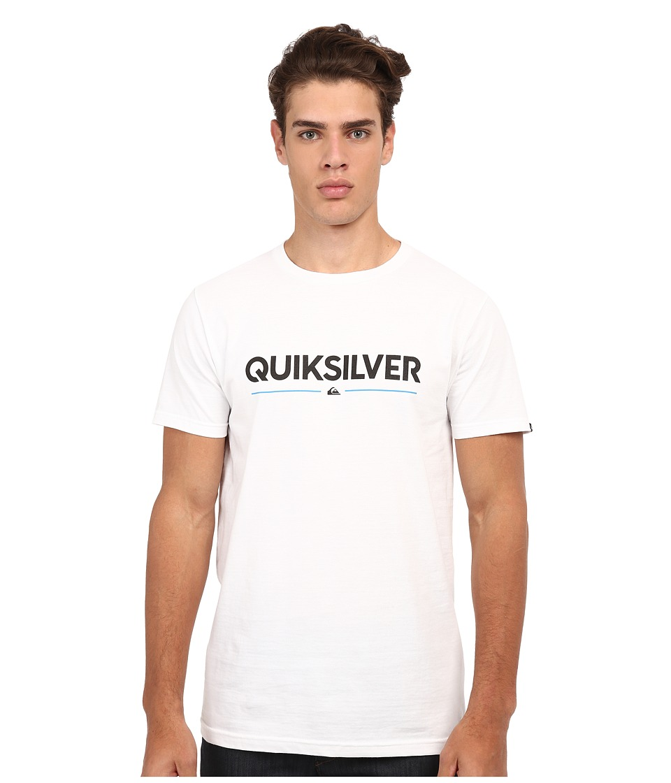 Quiksilver - Wordmark Mto Tee (White) Men