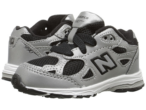 New Balance Kids - KJ990CRIM (Infant/Toddler) (Silver/Black) Boys Shoes