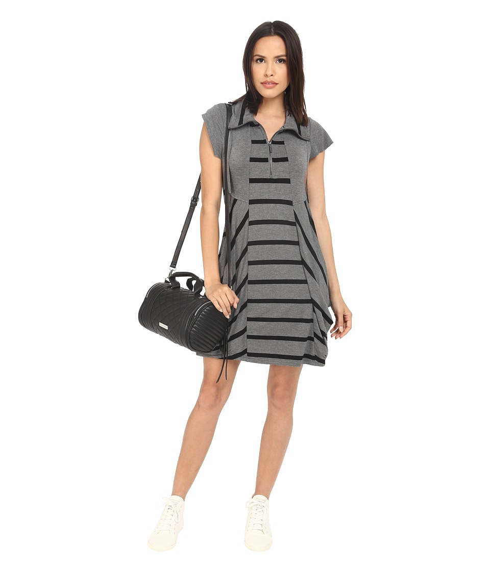kensie Drapey French Terry Dress KS2K7915 (Heather Ashe Combo) Women