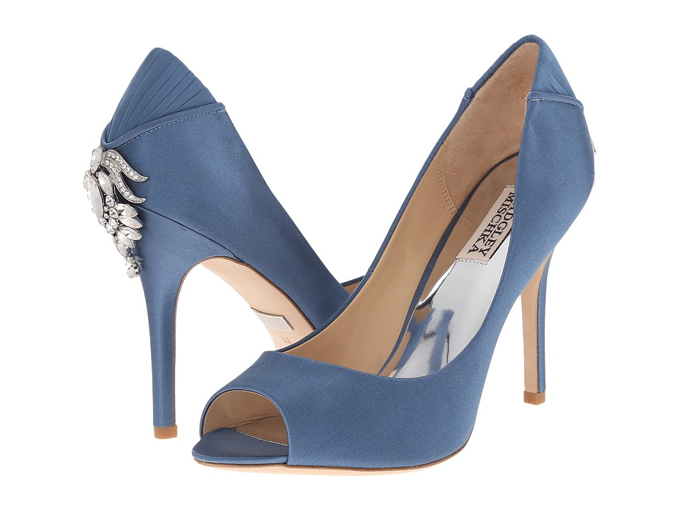 Badgley Mischka - Cali (Stormy Blue Satin/Silk) High Heels