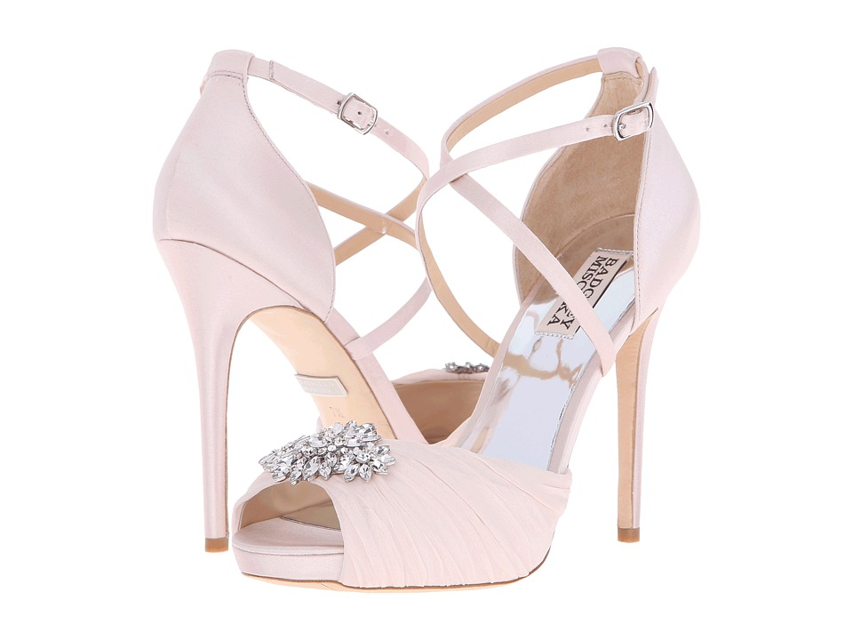 Badgley Mischka - Cacique (Light Pink Satin/Silk) High Heels