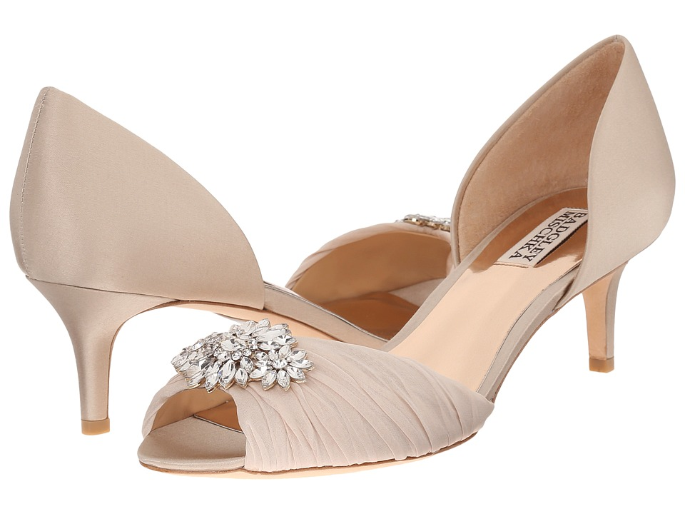 Badgley Mischka - Caitlin (Nude Satin/Silk) Women