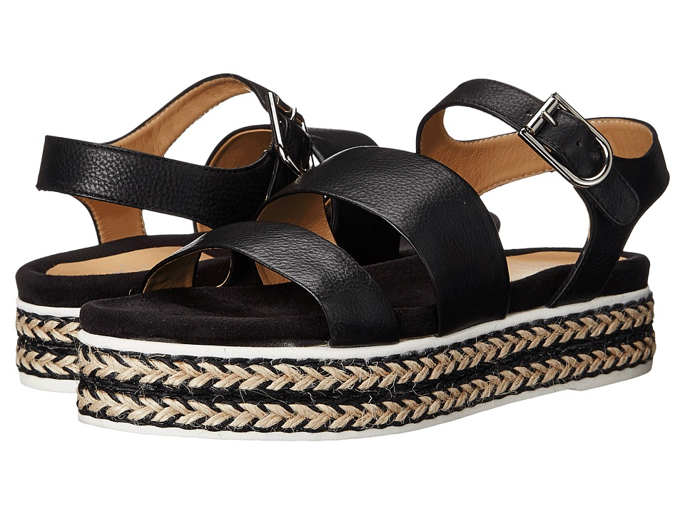 Aquatalia - Celina (Black Thumbled Calf) Women's Sandals