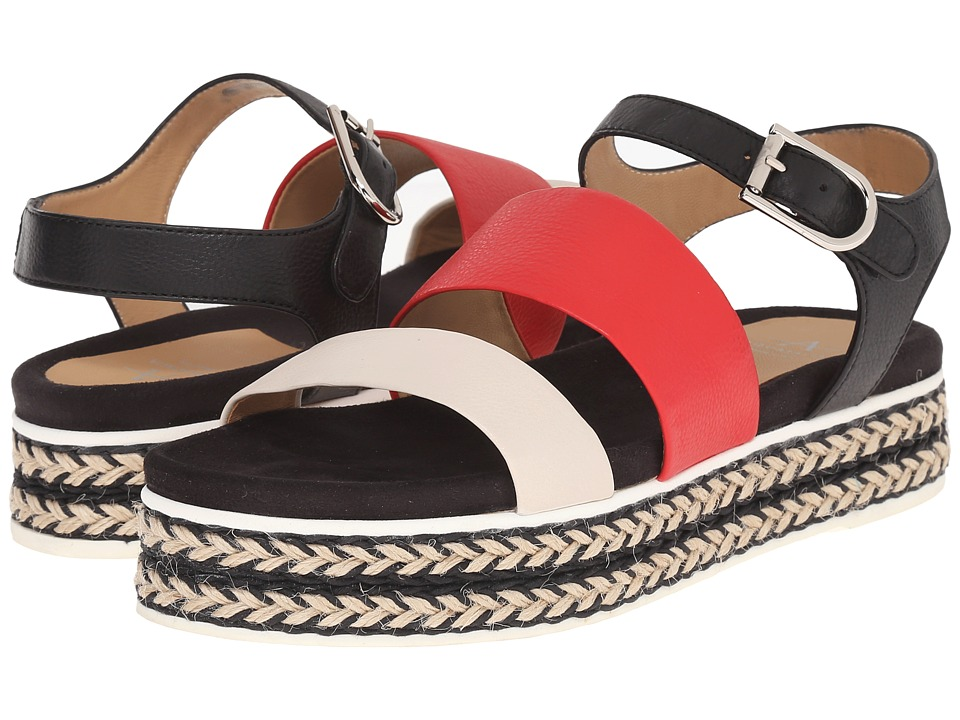 Aquatalia - Celina (Bone/Red/Black Thumbled Calf) Women's Sandals