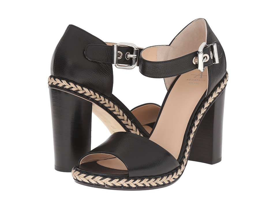 Aquatalia - Danielle (Black Thumbled Calf) High Heels