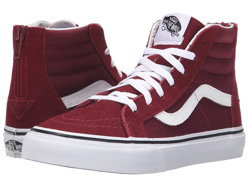 Vans Kids - Sk8-Hi Zip (Little Kid/Big Kid) (Windsor Wine) Kids Shoes