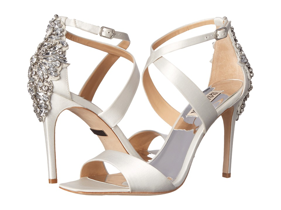 Badgley Mischka - Cadence (White Satin) High Heels