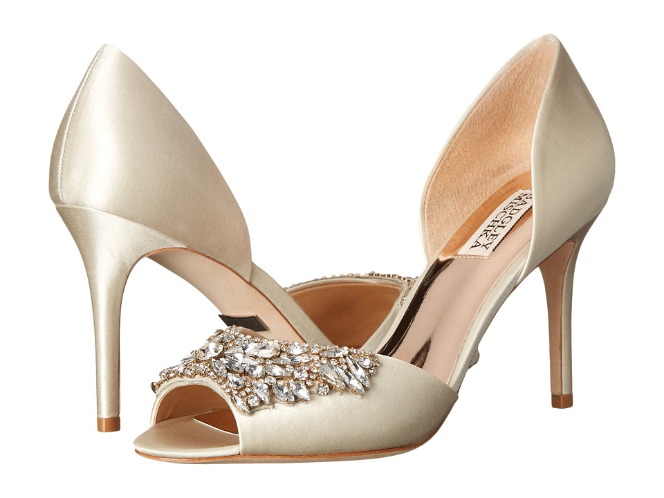 Badgley Mischka - Candance (Ivory Satin) High Heels