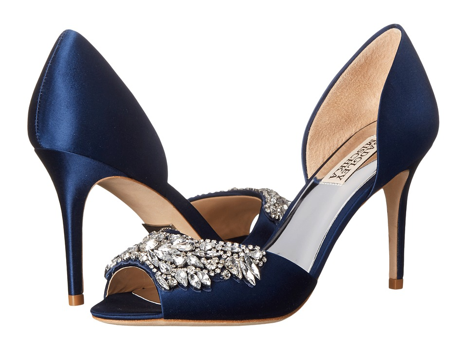 Badgley Mischka - Candance (Navy Satin) High Heels