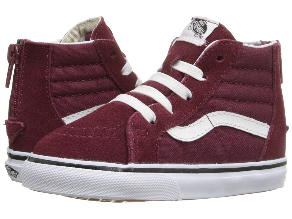 Vans Kids - Sk8-Hi Zip (Toddler) (Windsor Wine) Kids Shoes