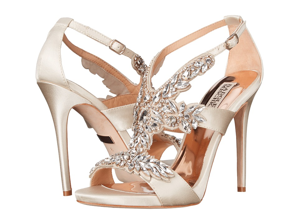 Badgley Mischka - Cappella (Ivory Satin) High Heels