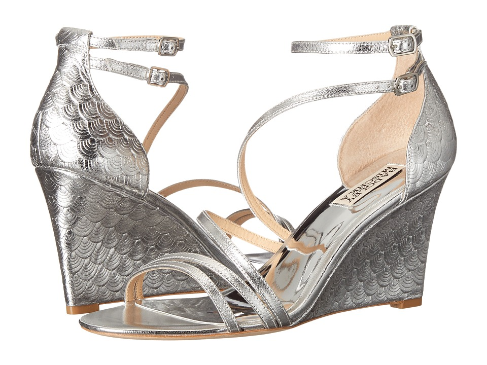 Badgley Mischka - Carnation II (Silver Metallic Leather) Women