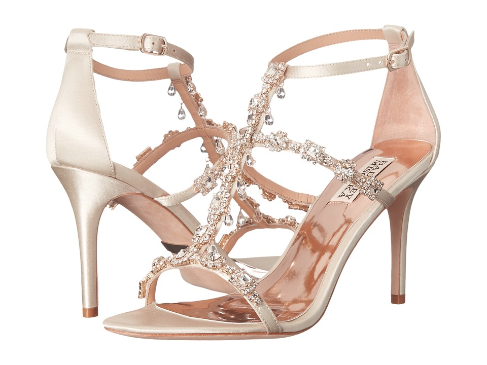 Badgley Mischka - Cascade (Ivory Satin) High Heels