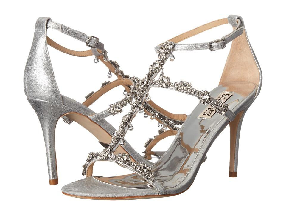 Badgley Mischka - Cascade II (Silver Metallic Suede) High Heels