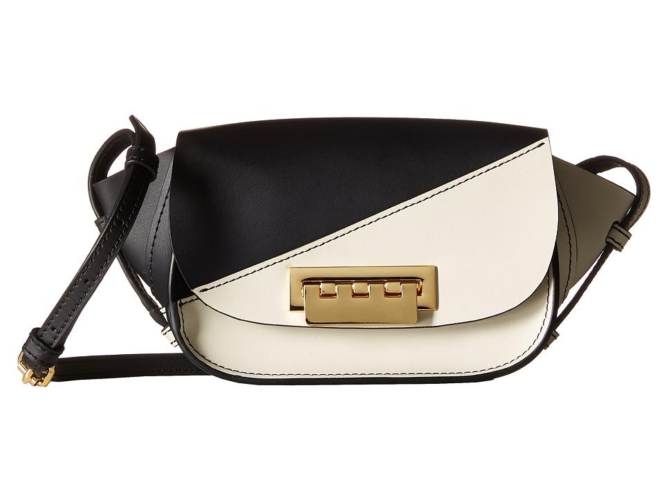 ZAC Zac Posen - Eartha Iconic Micro Accordon Crossbody (White) Cross Body Handbags