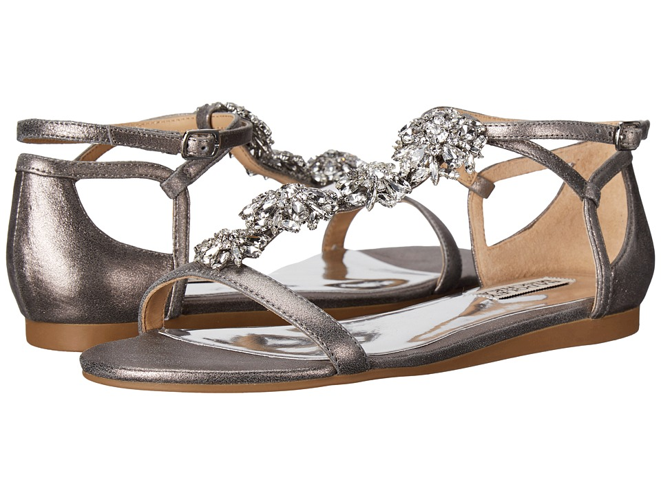 Badgley Mischka Lilli (Pewter Metallic Suede) Women