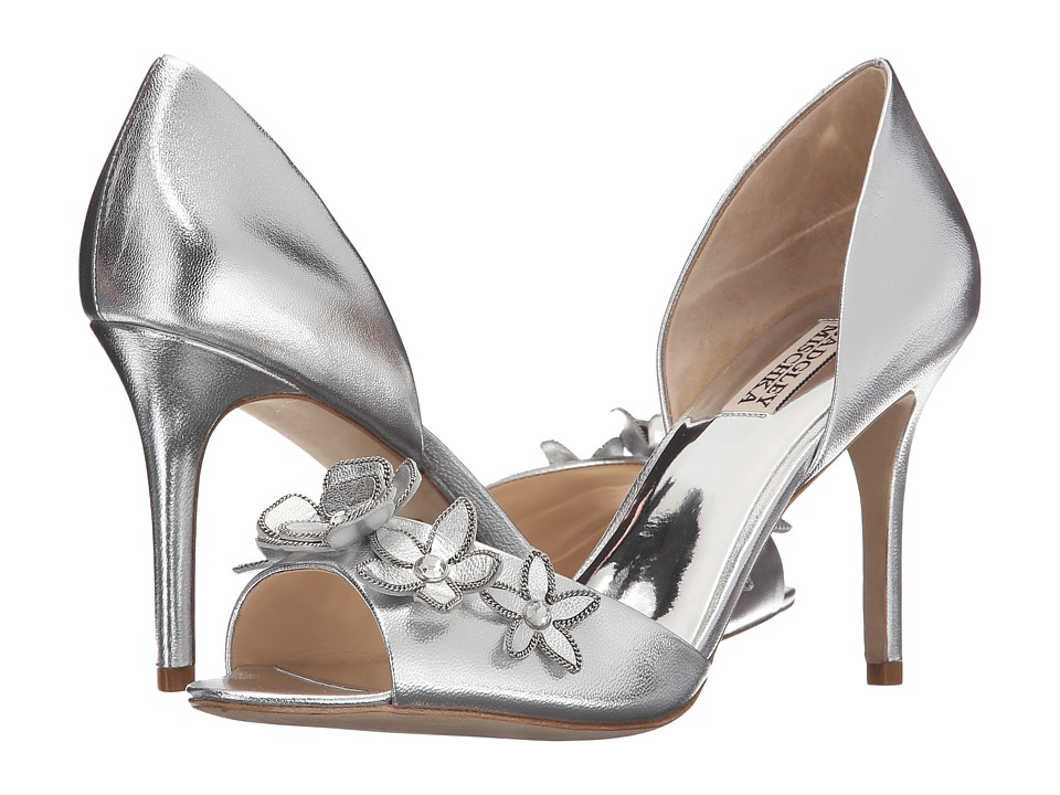 Badgley Mischka Larose (Silver Metallic Leather) Women