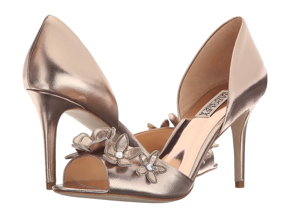 Badgley Mischka Larose (Champagne Metallic Leather) Women