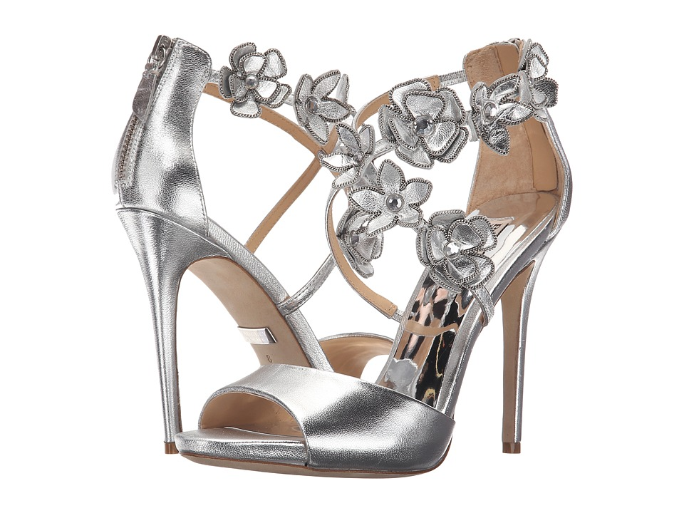 Badgley Mischka - Langley (Silver Metallic Leather) Women