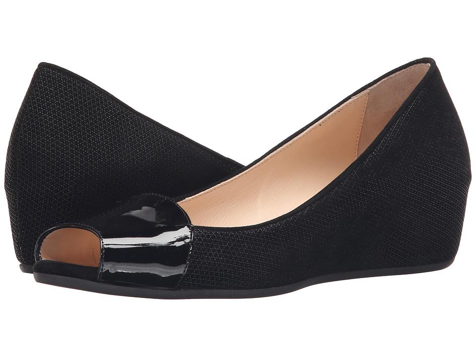 Aquatalia - Margaret (Black Patent/Suede) Women's Wedge Shoes