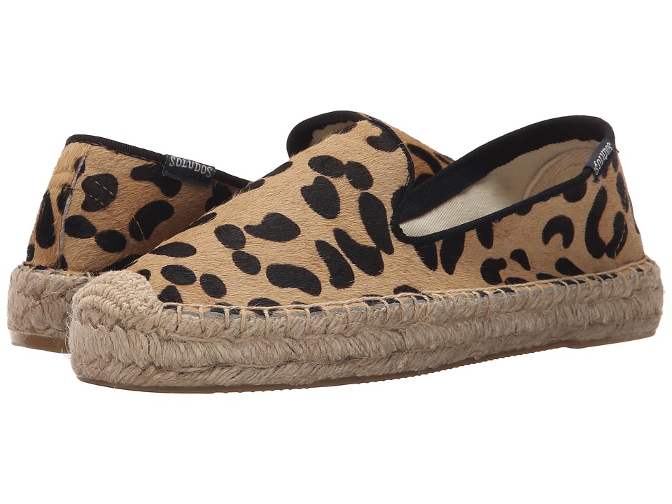 Soludos - Platform Smoking Slipper Fashion (Calf Hair Leopard Print) Women's Slippers