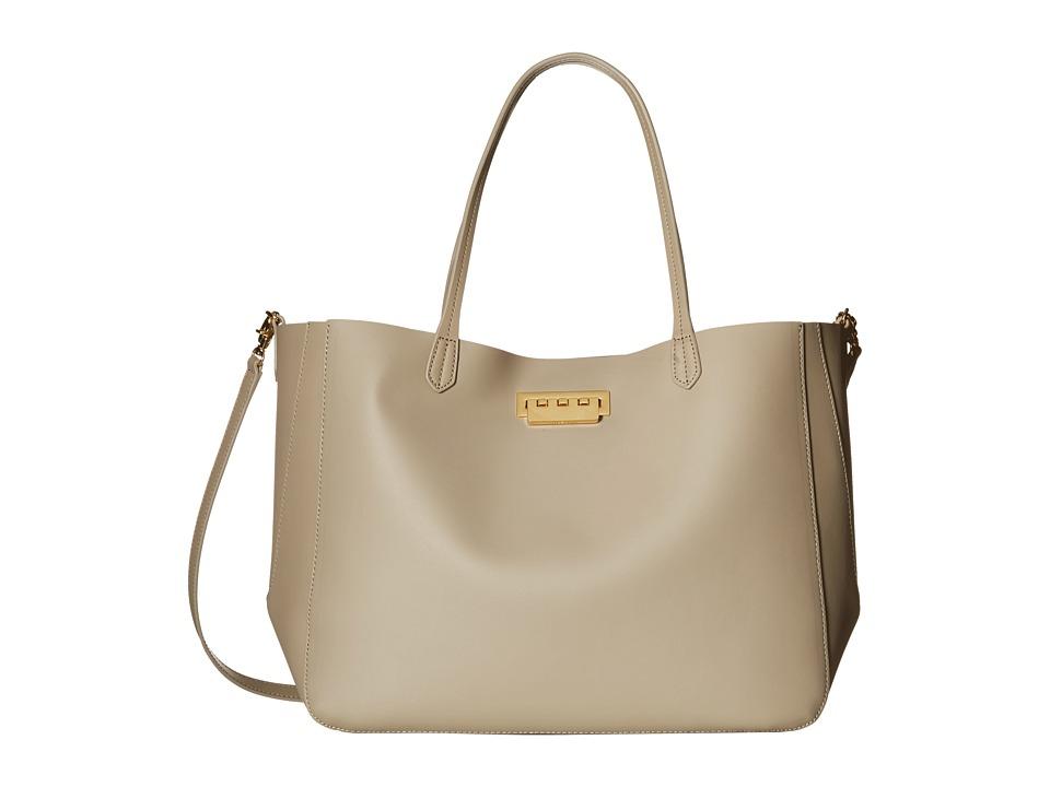 ZAC Zac Posen - Eartha Iconic Signature Shopper (Beige) Tote Handbags