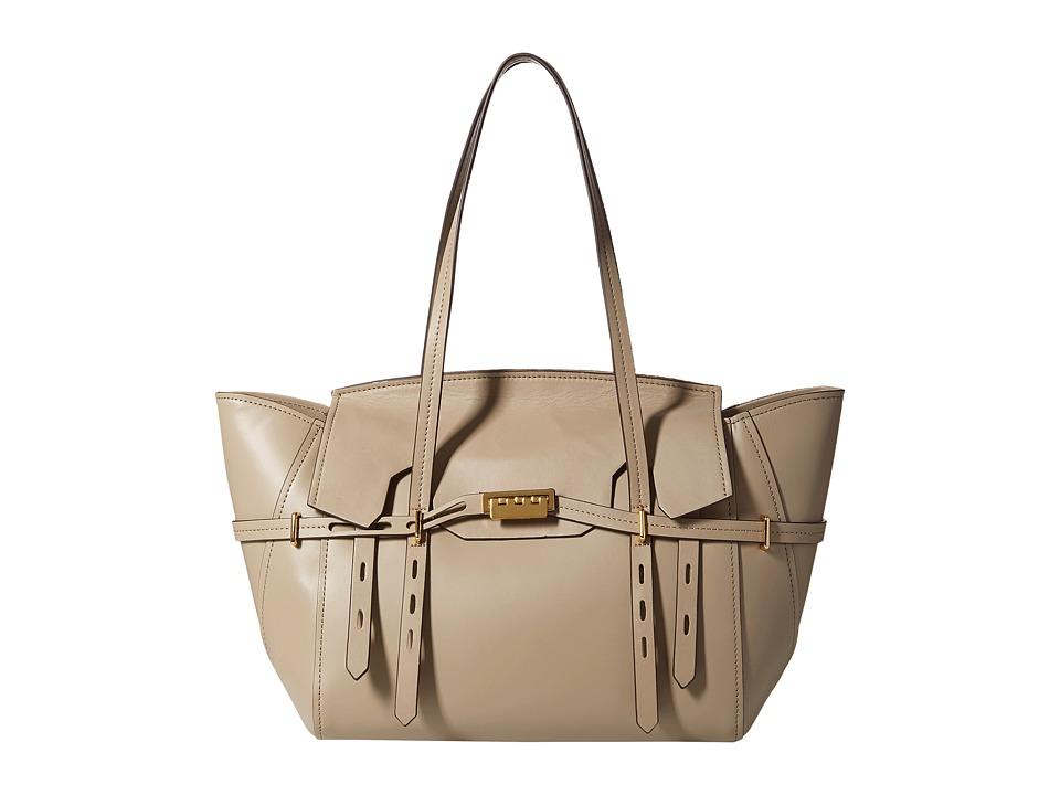 ZAC Zac Posen - Eartha Belted Satchel (Beige) Satchel Handbags