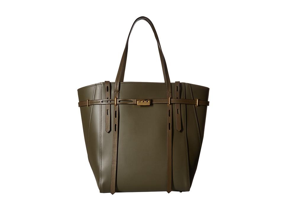 ZAC Zac Posen - Eartha Belted Shopper (Olive) Handbags