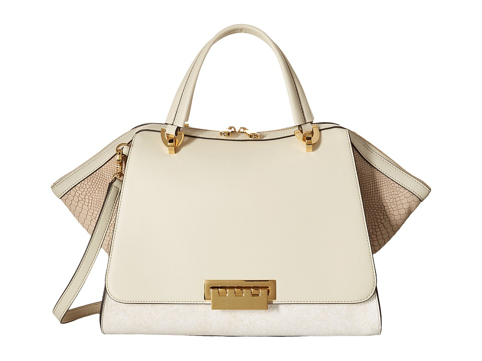 ZAC Zac Posen - Eartha Iconic Jumbo Double Handle (Ivory) Handbags