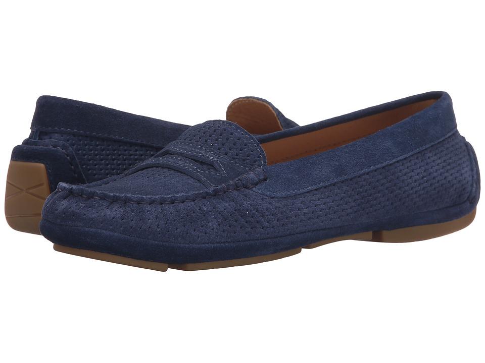 Aquatalia - Sawyer (Navy Suede) Women's Slip on Shoes