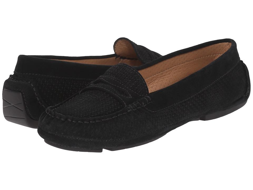 Aquatalia - Sawyer (Black Suede) Women's Slip on Shoes